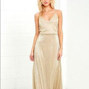 Friend of the Glam - Lulu's - Gold dress